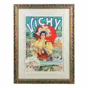 Vichy France Art Nouveau French Tourism Lithograph