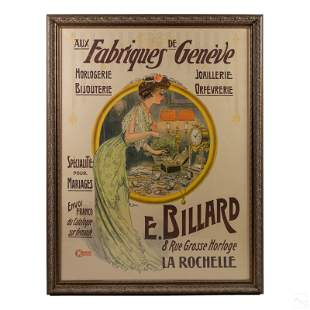 Fabriques de Geneve Art Nouveau Lithograph Poster
