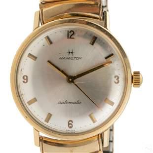 14K Gold Hamilton Mens Automatic Dress Wrist Watch