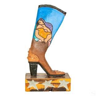 Modern Art Pottery Pablo Picasso Homage Sculpture