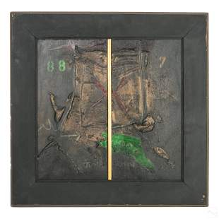 Igael Tumarkin b.1933 Modern Art Painting Diptych