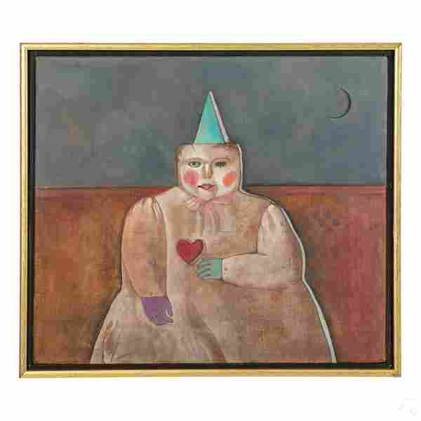 Mary Spain Colie (1934-1983) Surreal Oil Painting