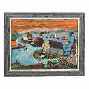 Pop Miller Primitive Outsider Folk Art Painting