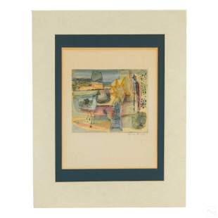 Gina Knee (1898-1982) Modern Abstract WC Painting