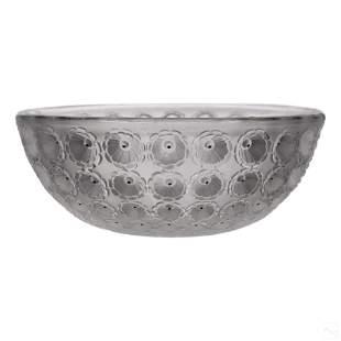 Lalique French Art Glass Anemone Centerpiece Bowl