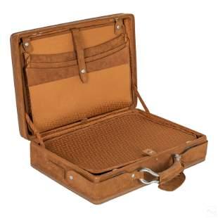 Hartmann MCM Hard Suede Leather Attache Briefcase