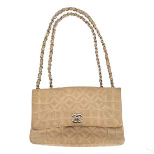 Chanel CC French Designer Quilted Handbag Purse