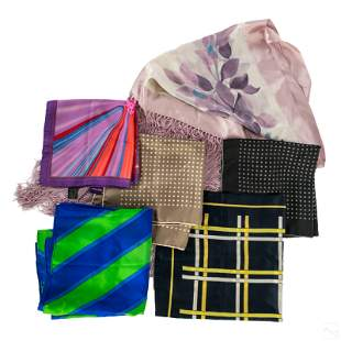 Armani, Versace, YSL Designer Silk Scarves & Wraps