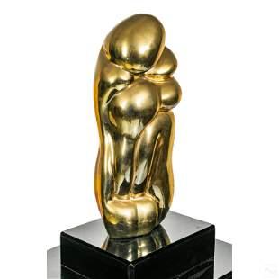 Emanuel (20th C.) Modern Abstract Bronze Sculpture
