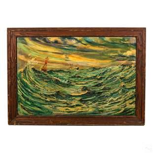 Impasto Nautical Marine Ocean Seascape Painting