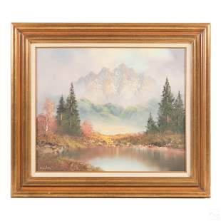 Gerhard Wegner (b. 1924) Alpine Landscape Painting