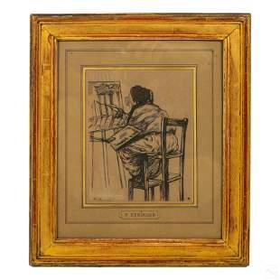 Charles Paul Renouard (1845-1924) Pencil Portrait
