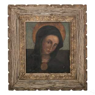 Italian Old Master Our Lady St. Mary Icon Painting