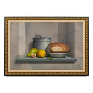 Domenico Lucini 1929-2001 Still Life Oil Painting