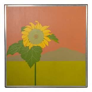 Sunflower Landscape Painting after Helen K Hattorf