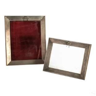 Sterling Silver Crown Vanity Easel Picture Frames