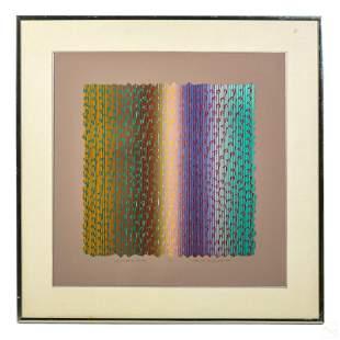 Edward Hansen b.1935 Signed Optical Art Lithograph