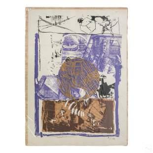 Igael Tumarkin (b.1933) Modern Abstract Lithograph