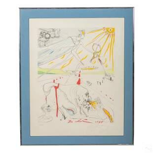 L'Alchimie Surrealist Etching after Salvador Dali