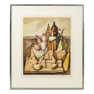 Samuel Bak b.1933 Modern Surrealism Art Lithograph