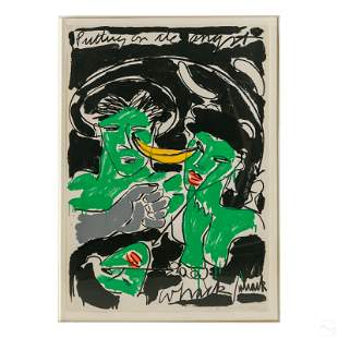 Bruce McLean b.1944 Modern Abstract Figural Litho