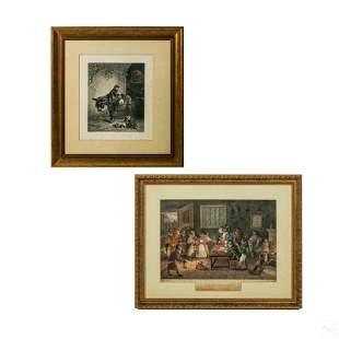 Monkey Antique Engraving Lithograph Prints Group