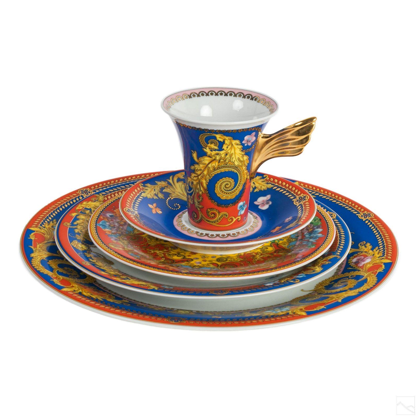 Rosenthal Versace Primavera Porcelain China 5 Pc