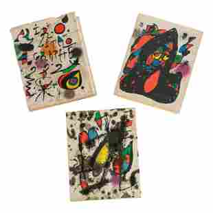 "Books: ""Joan Miro Litografo"" (Lithos) Vols II - IV"