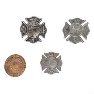 American Fire Department Antique Badges & Pins Lot