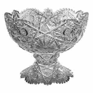 """Hawkes 12"""" Brilliant Cut Crystal Centerpiece Bowl"""
