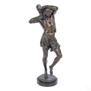 Auguste Joseph Carrier 1800-1875 Bronze Sculpture