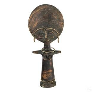 African Tribal Ghana Akuba Fertility Doll Figurine