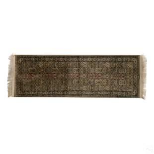 Persian Antique Traditional Woven Silk Prayer Rug