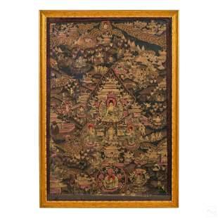 Chinese Tibetan Thangka of Padmasambhava Painting