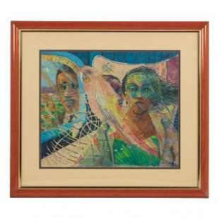 Louis Delsarte 1944-2020 American MM Painting