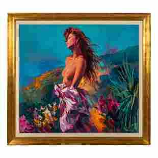 Nicola Simbari 1927-2012 Italian Nude Oil Painting