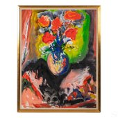 Yehuda Chaki b.1938 Floral Still Life Oil Painting