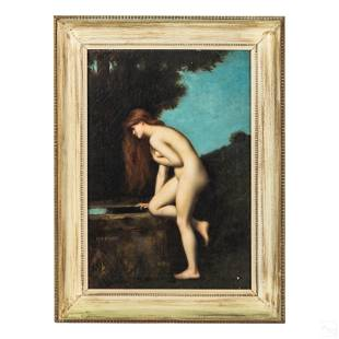 Jean Jacques Henner 1829-1905 Nude Bather Painting