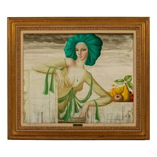 Philippe Auge (b.1935) Erotic Figural Art Painting