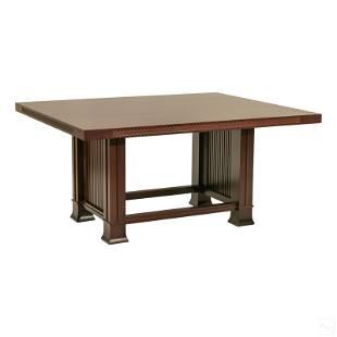 Frank Lloyd Wright Cassina Dining Room Wood Table