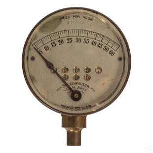 Jos W Jones Antique 60 MPH Speedometer 1908 Patent