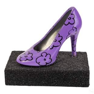 Romero Britto b.1963 Signed Pop Art Shoe Sculpture