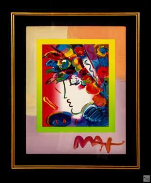 Peter Max b.1937 BLUSHING BEAUTY Modern Lithograph