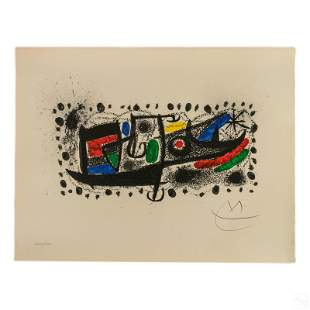 Joan Miro 1893-1983 Signed LE Catalonia Lithograph