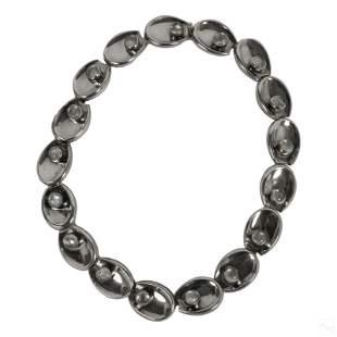 Antonio Pineda Sterling Silver Moonstone Necklace