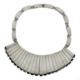 Antonio Pineda Sterling Silver Matchstick Necklace