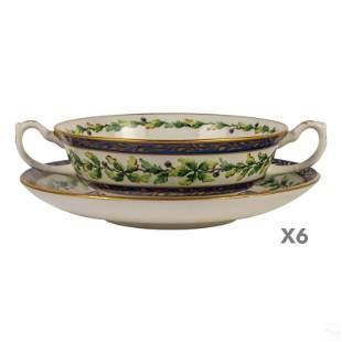 Tiffany Atelier Le Tallec Bouillon Bowls & Saucers