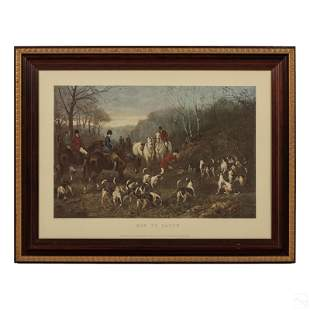 Heywood Hardy Victorian Antique Hunting Engraving