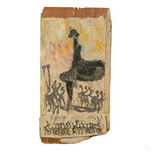 Purvis Young 1943-2010 Outsider Folk Art Painting
