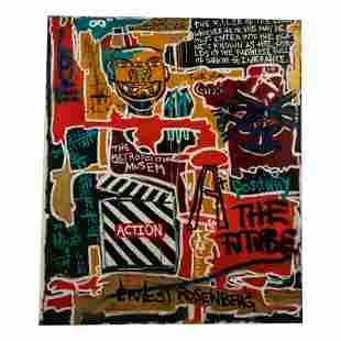 Ernest Rosenberg b.1975 Outsider Graffiti Painting